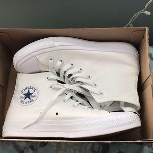 Converse Chuck Taylor 2s White High Tops
